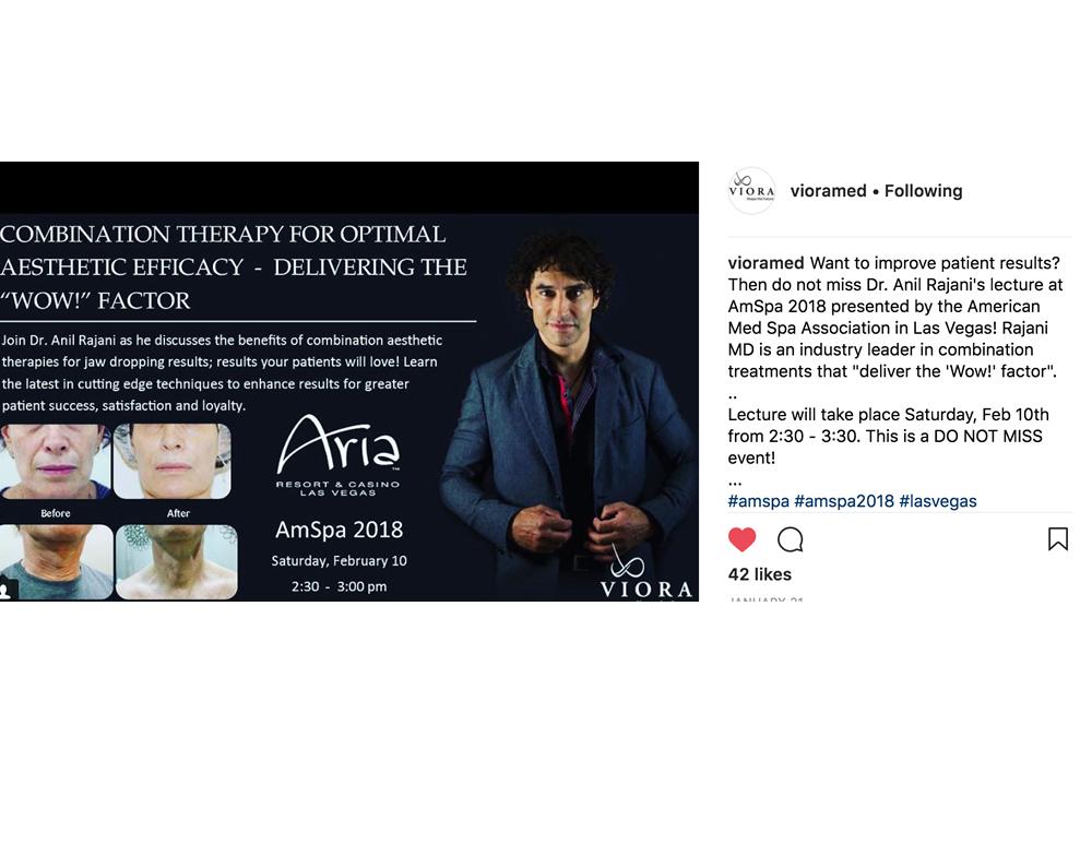 RajaniMD Lectures At AmSpa 2018